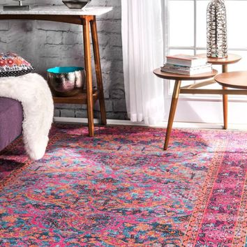 nuLOOM Persian Floral Yoshie Area Rug