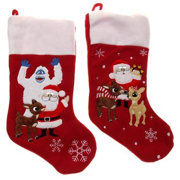 Rudolph Red Nosed Reindeer Stocking Set 2 Official Licensed Product