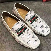 GUCCI New more letter fashion shoes White