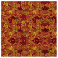 Autumn Leaves Patterns Fabric