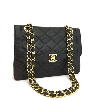 Vintage CHANEL Paris Limited 21 Double Flap Quilted Lambskin Shoulder Bag /k193