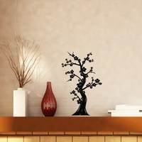 Bonsai Tree Japanese Culture Abstract Nature Oriental Decor Vinyl Decal Wall Sticker Unique Gift (n001)