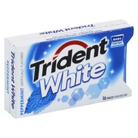 Trident White Peppermint Sugar-Free Gum 16 pc : Target