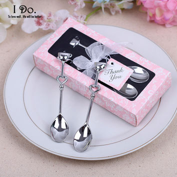 Free Shipping Couple Coffee Spoon Wedding Favors And Gifts Wedding Gifts For Guests Wedding Souvenirs Event & Party Supplies