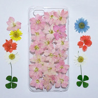 iPhone 5s Case Floral, iPhone 5 Case Clear, Pressed Flower iPhone 5s Case, samsung galaxy s6 case, s5 case, pink pressed flower note 5 case,