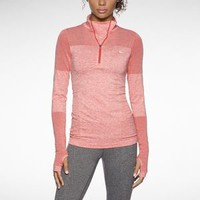 Nike Store. Nike Dri-FIT Knit Long-Sleeve Half-Zip Women's Running Shirt