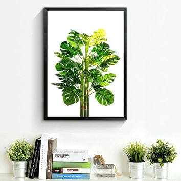 Monstera Tropical Leaf, Printable Art, Monstera leaves, Tropical Leaves, Tropical Decor, Green Wall decor, Instant Download, Wall Art *131*