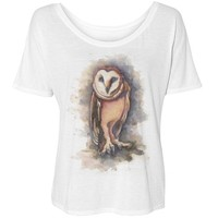 owl fashion tee: Girly Growl
