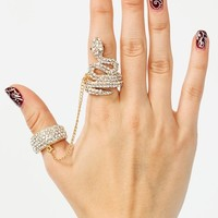 Chain-Link-Snake-Ring GOLD - GoJane.com