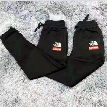 Supreme Thick leisure pants men's sport pants hight quality Black