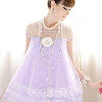 Six Layer Sweet Lace Dress
