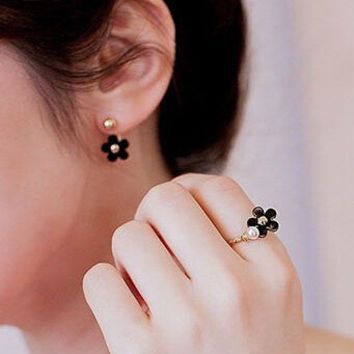 Gift Jewelry New Arrival Shiny Leaf Pearls Star Korean Stylish Fashion Accessory Ring [6586077191]
