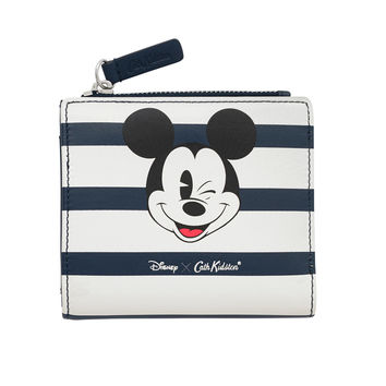 Mickey Stripe Leather Purse with Coin Slot | Mickey Mouse Accessories | CathKidston
