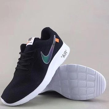 Trendsetter Off White X Nike Tanjun   Fashion Casual  Sneakers Sport Shoes