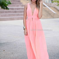 BACHELORETTE MAXI , DRESSES, TOPS, BOTTOMS, JACKETS & JUMPERS, ACCESSORIES, 50% OFF SALE, PRE ORDER, NEW ARRIVALS, PLAYSUIT, COLOUR, GIFT VOUCHER,,MAXIS,Pink,CUT OUT,SLEEVELESS Australia, Queensland, Brisbane