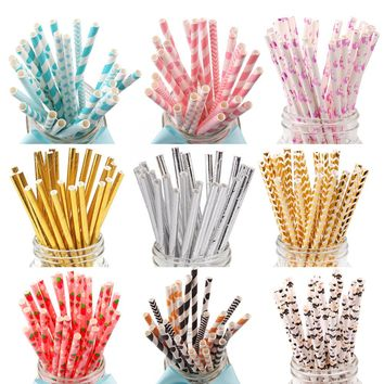 25pcs Drinking Paper Straws