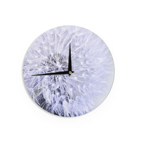 "Debbra Obertanec ""Lavender Wish"" Purple Flower Wall Clock"