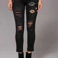 Psychedelic Patch Jeans