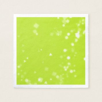 Lime Green Confetti Party Paper Napkins