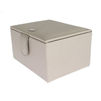 Dolce & Gabbana White Leather Unisex Two Watch Case Cover Box Storage