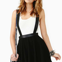 Sold Out Teenage Riot Suspender Skirt (Nasty Gal)
