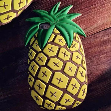 Pineapple iPhone 5s 6 6s Plus Case Ultrathin Cover Free Gift Box 40