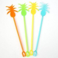 8 Pineapple Tropical Cocktail Drink Stir Sticks Stirrers Beach Party Nautical
