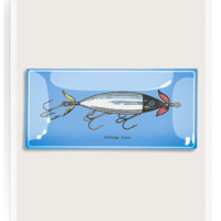 Fishing Lure Decoupage Glass Tray