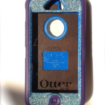 iPhone 5 Otterbox Glitter Cute Sparkly Case Defender Series for Apple iPhone 5 Frost Purple/Blue