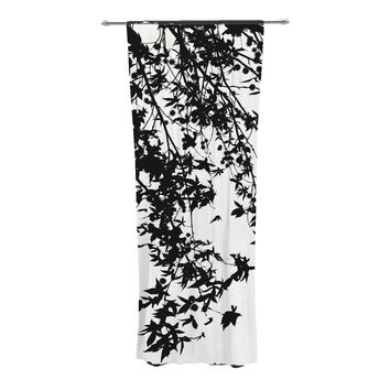 "Ingrid Beddoes ""Black on White"" Decorative Sheer Curtains"