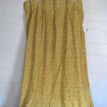 Vintage Mustard Gold Curtain Mustard Yellow Curtain 60s Curtain 1960s Curtain Pinch Pleat Curtain Drapery Panel Pinch Pleat Drape Window