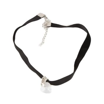 1 PC Unisex Women Men Lover Gothic Velvet Heart Crystal Choker Handmade Necklace Pendant Fine Jewelry