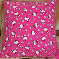 Hello Kitty pillow, children's pillow, bedroom decor pillow