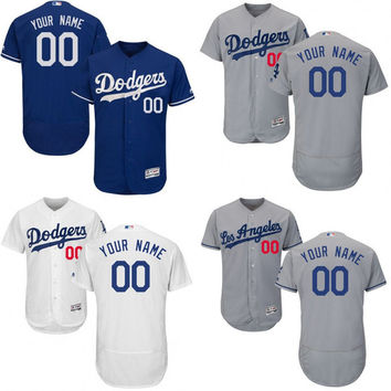 Free Shipping cheap Men's Custom Los Angeles Dodgers Baseball Jersey Flexbase Collection For Sale stitched size S-5XL