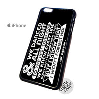 We Danced All Night Wall Lyrics one direction Phone Case For Apple,  iphone 4, 4S, 5, 5S, 5C, 6, 6 +, iPod, 4 / 5, iPad 3 / 4 / 5, Samsung, Galaxy, S3, S4, S5, S6, Note, HTC, HTC One, HTC One X, BlackBerry, Z10