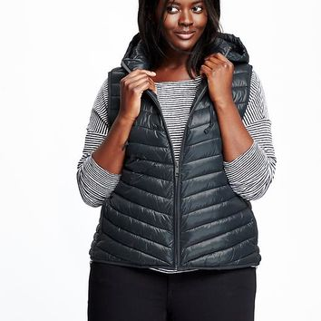 Old Navy Womens Plus Frost Free Hooded Vest