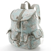 Candie's Glittery Floral Cargo Backpack
