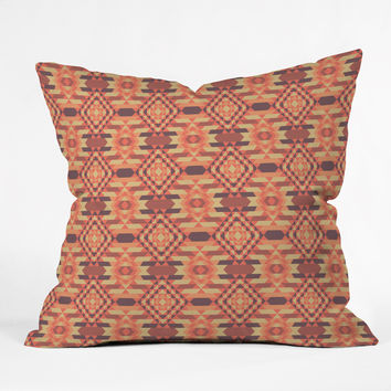 Chobopop Woven Rug No 1 Throw Pillow