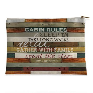 Cabin Rules Flat Pouch