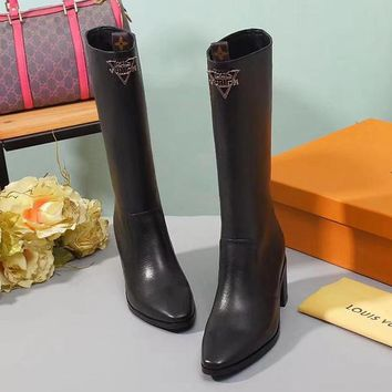 Louis Vuitton LV Women Fashion Casual In Tube Boots Martin Boots Shoes
