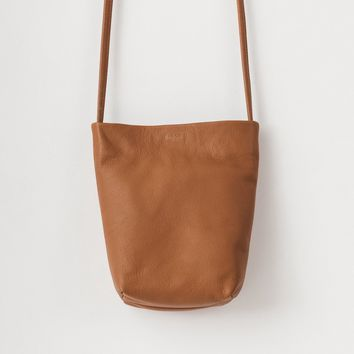 BAGGU Leather Cross Body Purse Saddle