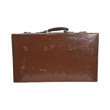 Pre-owned Vintage Leather Suitcase