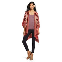 Women's Open Poncho Orange - Mossimo Supply Co.