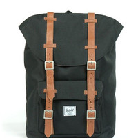 Herschel Supply Co. - Little America Mid-Volume Backpack (Black/Tan)