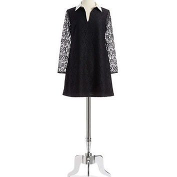 Cece By Cynthia Steffe Collared Lace Shift Dress