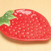 Strawberry Ceramic Plate, Large - 8591