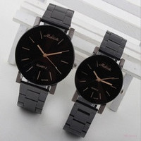 Fashion Women Men Couples Stainless Steel Analog Quartz Wrist Watch [7687739590]