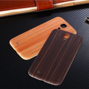 Luxury wood pattern frosted Phone cover Original Battery housing Back Cover Plastic case For Samsung galaxy S4 i9500