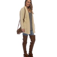 Sale-ivory Braided Knit Cardigan