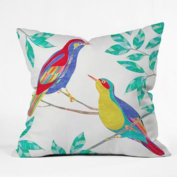 Jacqueline Maldonado Songbirds 2 Throw Pillow